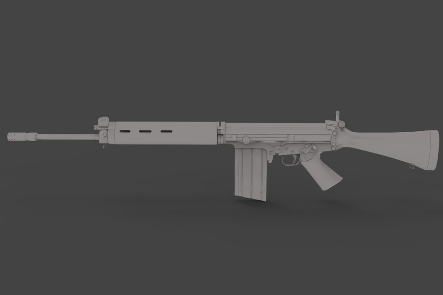 FN FALパック royalty-free 3d model - Preview no. 10