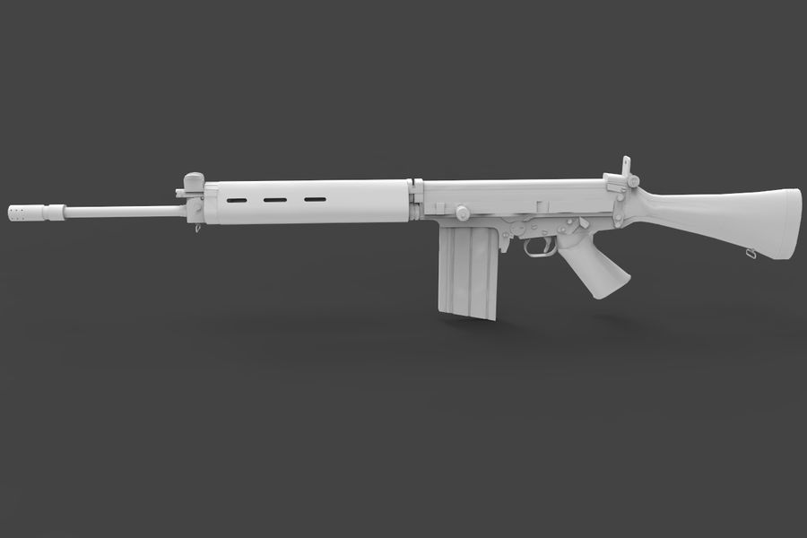 FN FALパック royalty-free 3d model - Preview no. 12