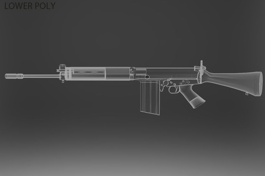 FN FALパック royalty-free 3d model - Preview no. 38