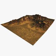 사막 언덕 자연 환경 3d model