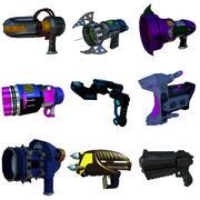 Pistolets de science-fiction 3d model