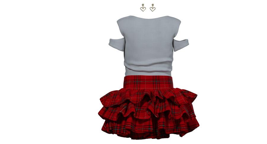 Spódnica i koszulka T-shirt royalty-free 3d model - Preview no. 2