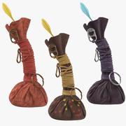 Collection de sacs Gris-Gris 3d model