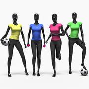 Female sport set 3d model
