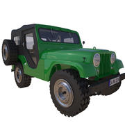 Jeep CJ-5 1954 3d model