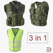 Vests 3D Models Collection 2 3d model