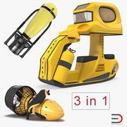 水中スクーター3Dモデルコレクション 3d model