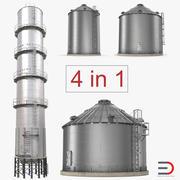 Collezione di contenitori per la conservazione dei cereali 3d model