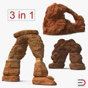 Colección de arcos de arenisca modelo 3d