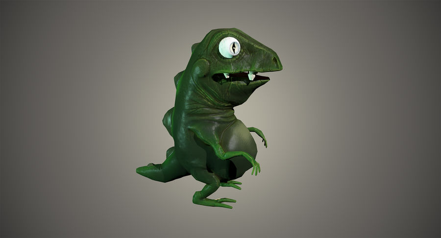 Stiliserad dinosaurie royalty-free 3d model - Preview no. 4