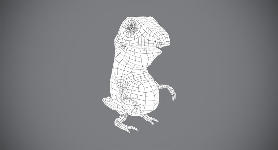 Stiliserad dinosaurie royalty-free 3d model - Preview no. 9