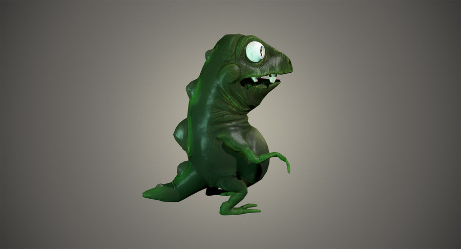 Stiliserad dinosaurie royalty-free 3d model - Preview no. 5