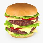 Double Burger 3D Model 3d model