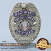 Distintivo della polizia degli Stati Uniti 3d model