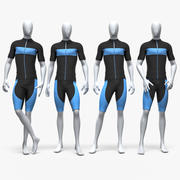 男运动骑行服 3d model
