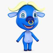 Cartoon Buffalo No Rig 3d model
