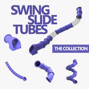Colección de tubos deslizantes modelo 3d