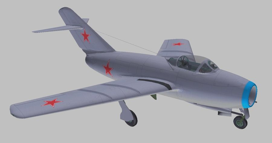 Mig 15 royalty-free 3d model - Preview no. 6