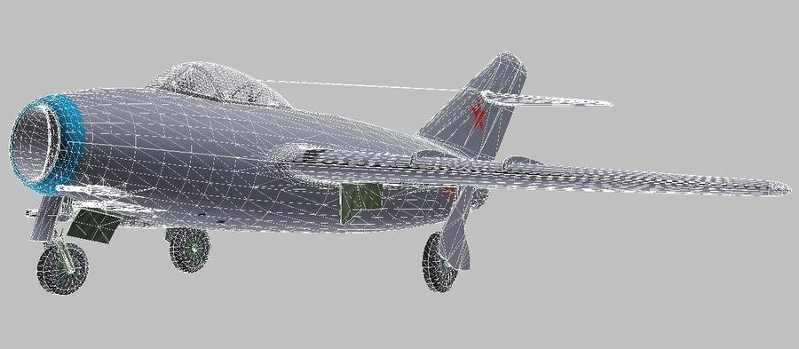 Mig 15 royalty-free 3d model - Preview no. 7
