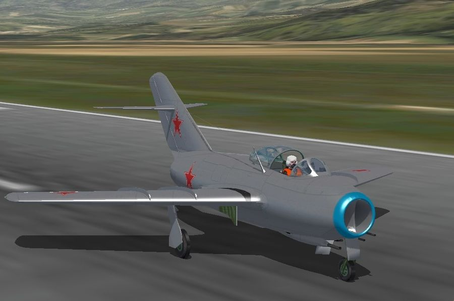 Mig 15 royalty-free 3d model - Preview no. 8