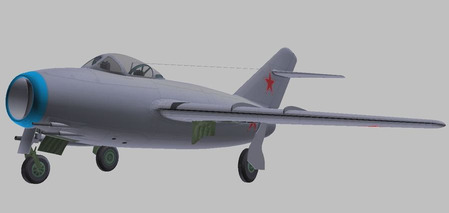 Mig 15 royalty-free 3d model - Preview no. 1