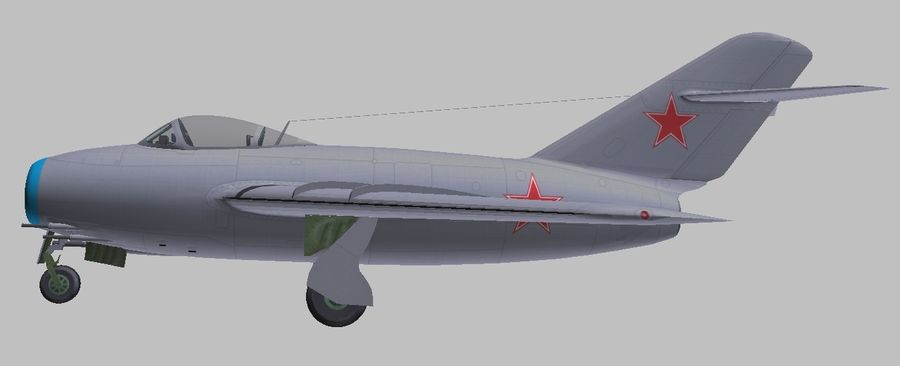 Mig 15 royalty-free 3d model - Preview no. 4