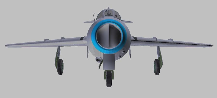 Mig 15 royalty-free 3d model - Preview no. 5