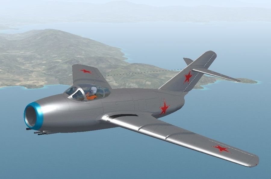 Mig 15 royalty-free 3d model - Preview no. 9