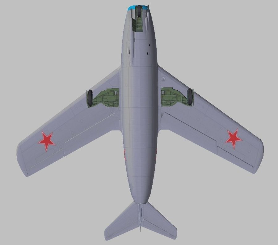 Mig 15 royalty-free 3d model - Preview no. 3