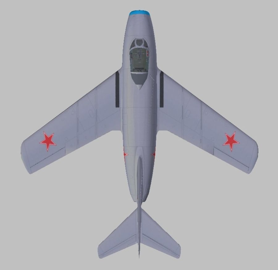 Mig 15 royalty-free 3d model - Preview no. 2