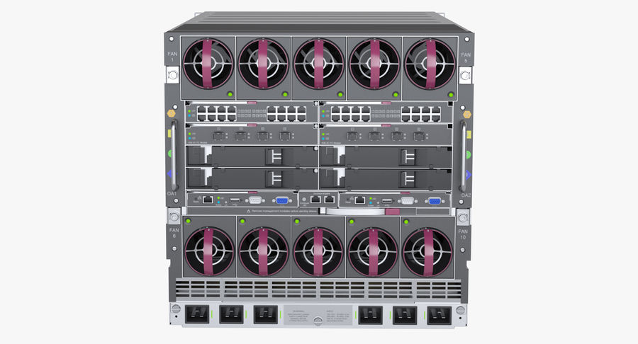 Blade Server Computer royalty-free 3d model - Preview no. 6