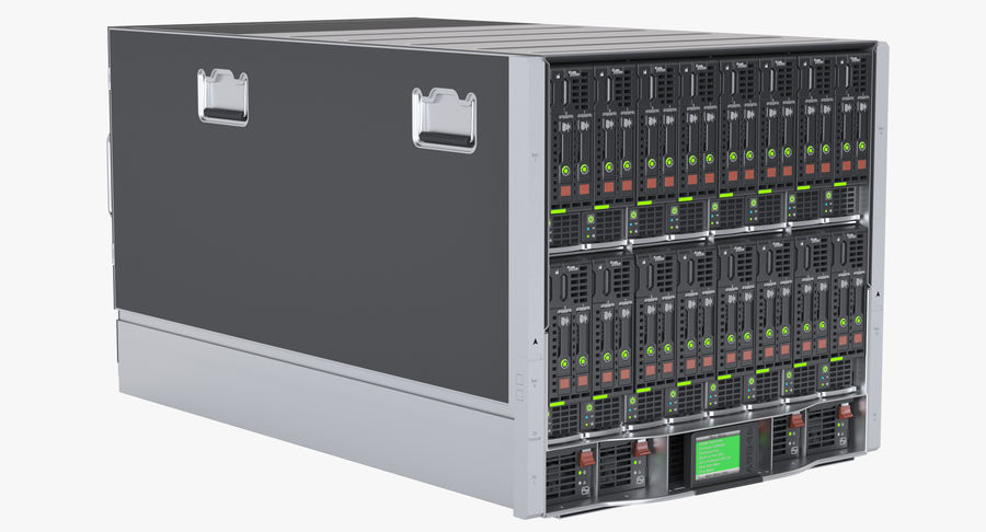 Blade Server Computer royalty-free 3d model - Preview no. 4