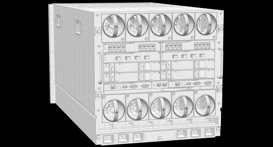 Blade Server Computer royalty-free 3d model - Preview no. 13