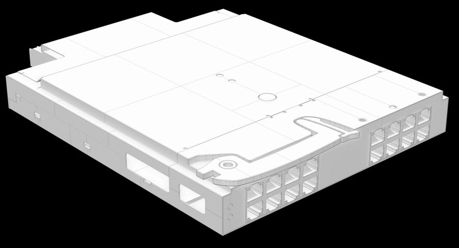 Blade Server Computer royalty-free 3d model - Preview no. 20
