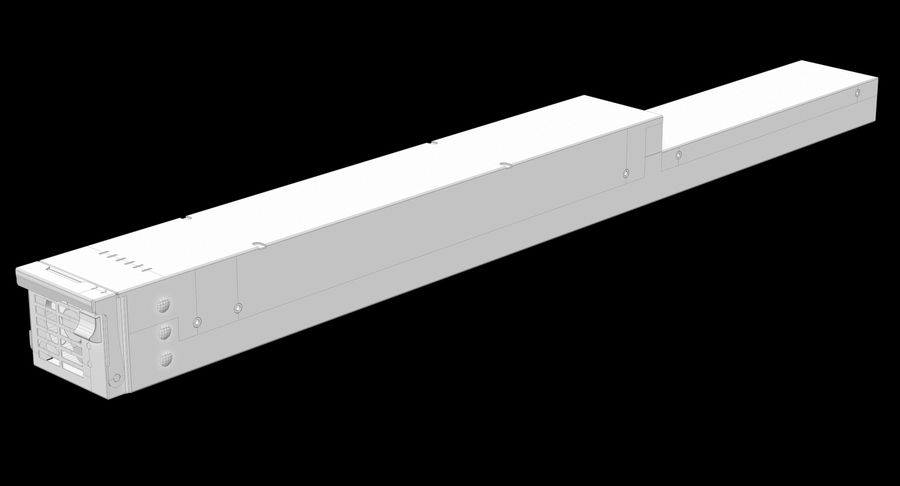 Blade Server Computer royalty-free 3d model - Preview no. 19