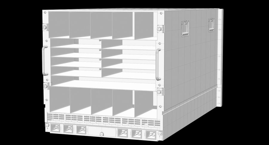 Blade Server Computer royalty-free 3d model - Preview no. 16