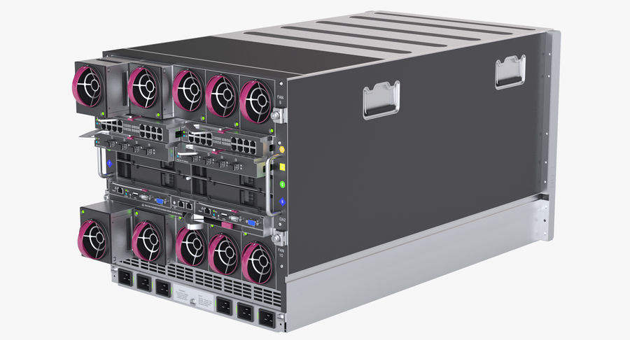 Blade Server Computer royalty-free 3d model - Preview no. 8