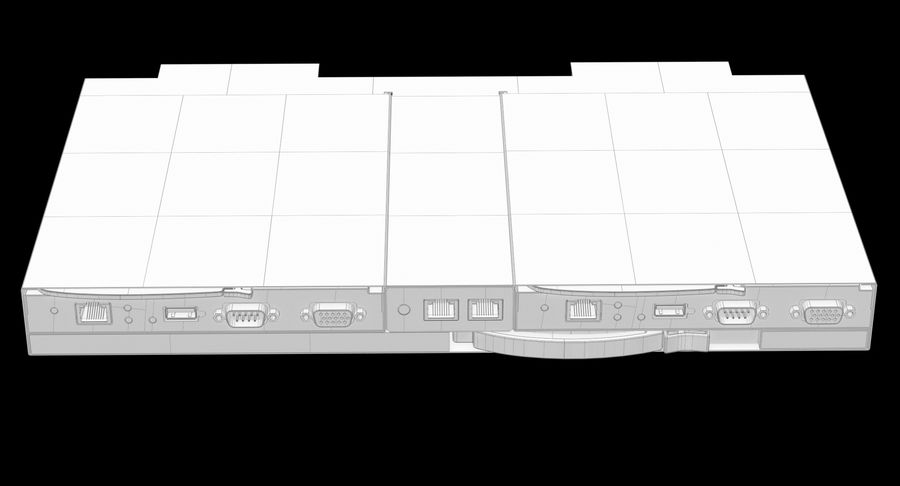 Blade Server Computer royalty-free 3d model - Preview no. 22