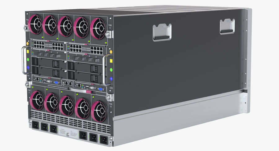 Blade Server Computer royalty-free 3d model - Preview no. 5