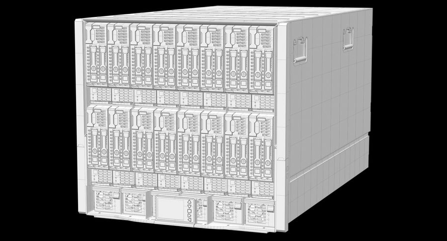 Blade Server Computer royalty-free 3d model - Preview no. 11
