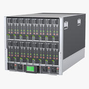 Blade Server Computer 3d model
