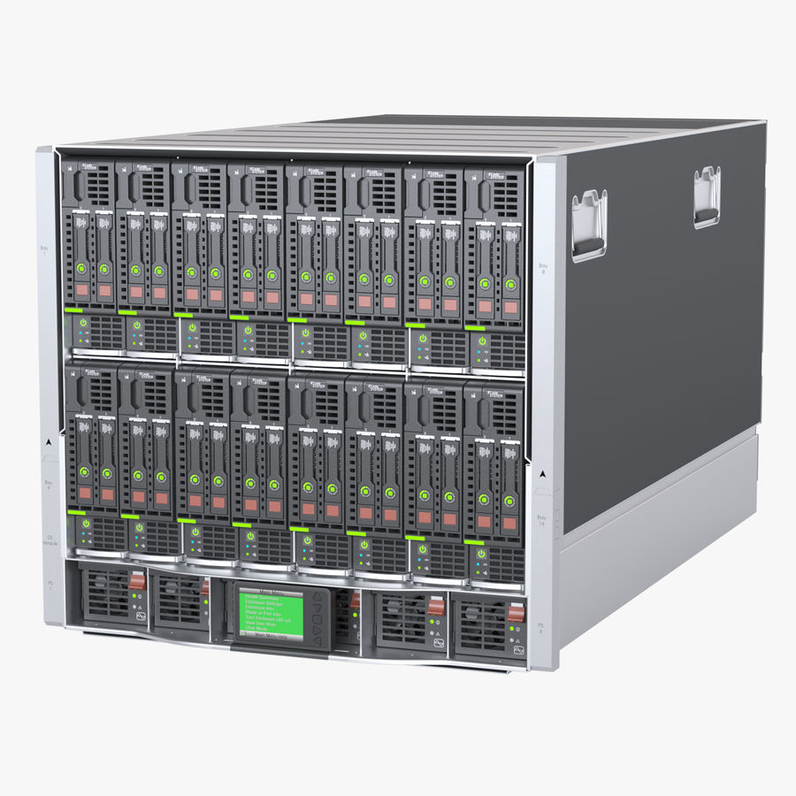Blade Server Computer royalty-free 3d model - Preview no. 1