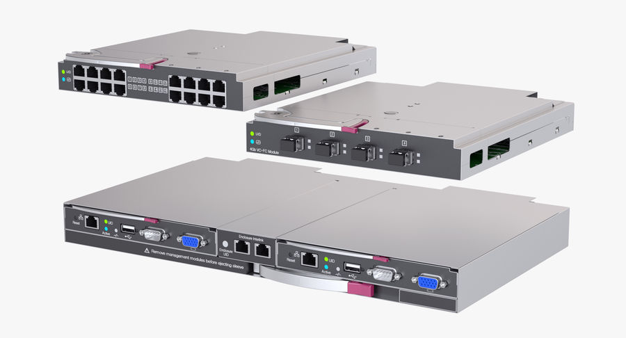 Blade Server Computer royalty-free 3d model - Preview no. 10