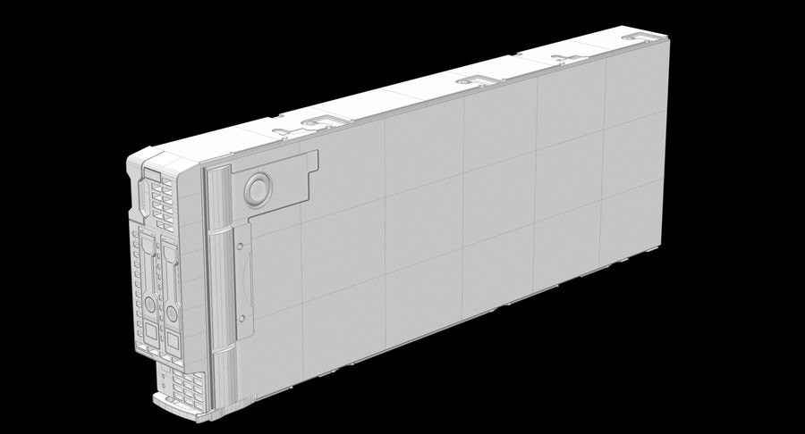Blade Server Computer royalty-free 3d model - Preview no. 17