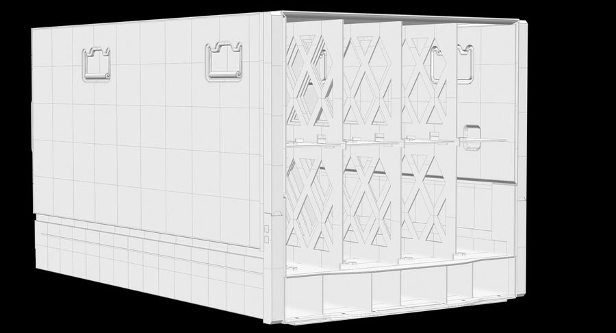 Blade Server Computer royalty-free 3d model - Preview no. 15