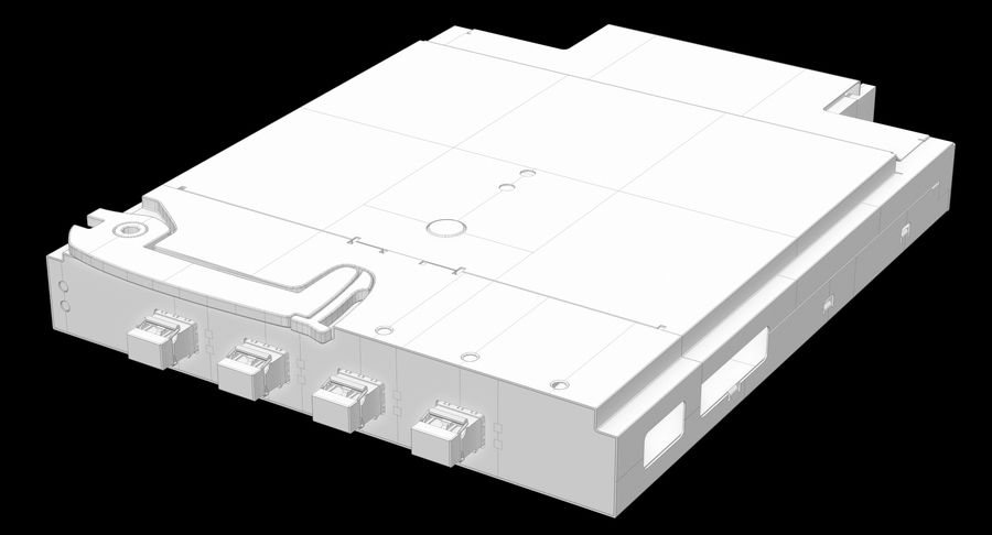 Blade Server Computer royalty-free 3d model - Preview no. 21