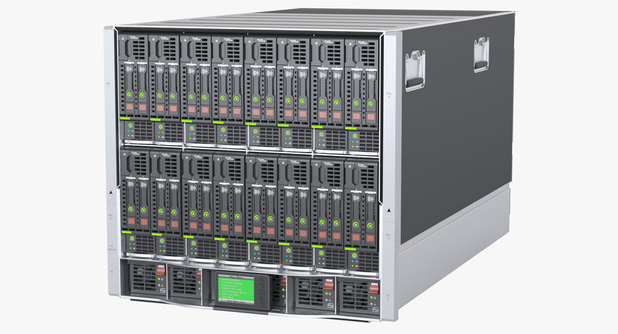 Blade Server Computer royalty-free 3d model - Preview no. 2
