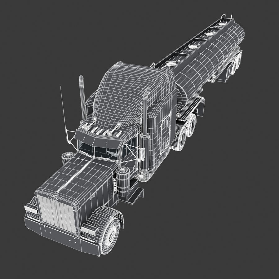 Autocisterna V2 royalty-free 3d model - Preview no. 3