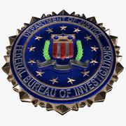 Écusson du FBI (Logo) 3d model