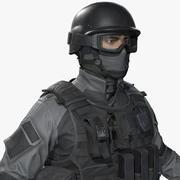 Politie Special Force Officer 3d model